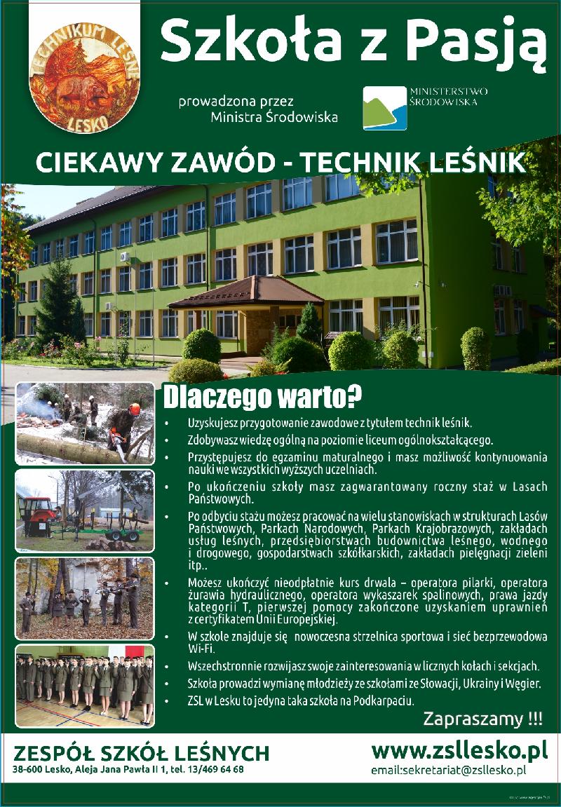 Zapraszamy do ZSL Lesko- powiększ